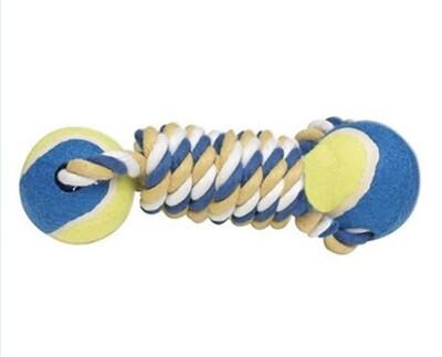 Braided Rope Bone with Tennis Balls