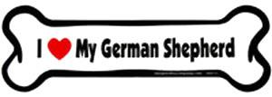 Bone Magnet: I Love My German Shepherd