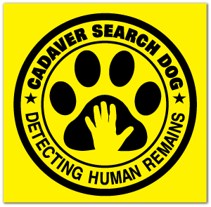 Reflective Patch: Cadaver Search Dog Logo