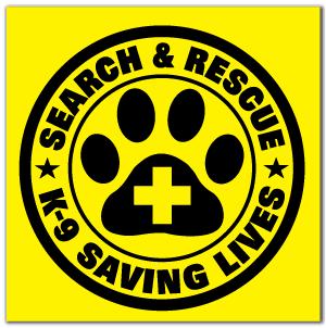 Reflective Patch: SAR K-9 Saving Lives Logo