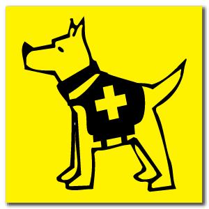 Reflective Patch: SAR Dog Logo