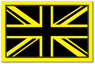 Reflective Patch: Brisith Flag