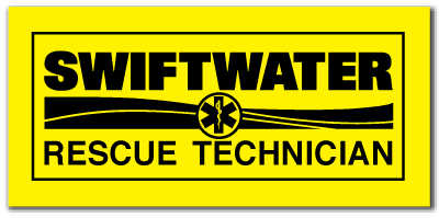 Reflective Patch: SWIFTWATER RESCUE TECHNICIAN