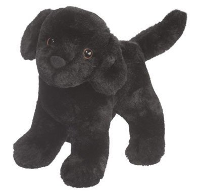Plush Pup Standing: Black Lab