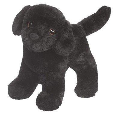Plush Pup Standing: Black Lab