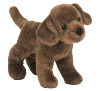 Plush Pup Standing: Chocolate Lab