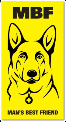 Reflective Patch: MBF German Shepherd