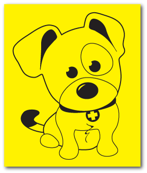 Reflective Magnet: SAR K-9 Pup