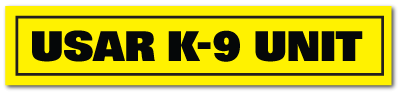 Reflective Patch: USAR K-9 UNIT