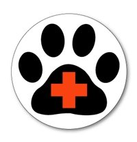Sticker: Paw Cross