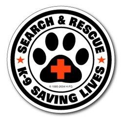 Sticker: SAR K-9 Saving Lives