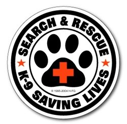 Sticker: SAR K-9 Saving Lives