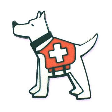 Lapel Pin: SAR Dog Logo