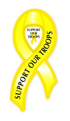 Magnetic Ribbon: Support Our Troops