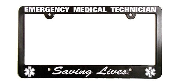 License Plate Frame: EMT