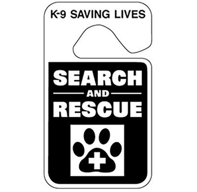 Parking ID Tag (Reflective): SAR K-9