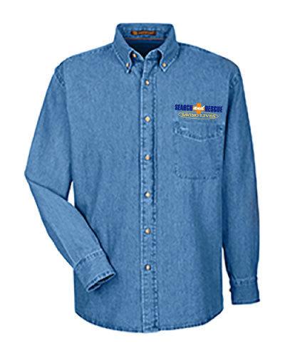 Long Sleeve Denim Shirt: Search & Rescue K-9