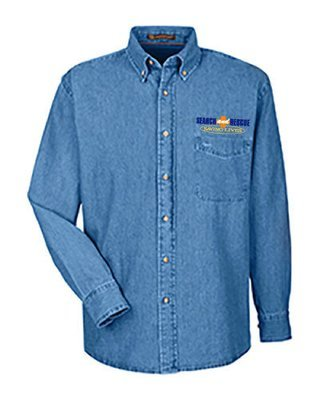 Long Sleeve Denim Shirt: Search & Rescue K-9