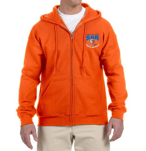 Zipper Hoodie Sweatshirt (Dri-Wear): SAR World