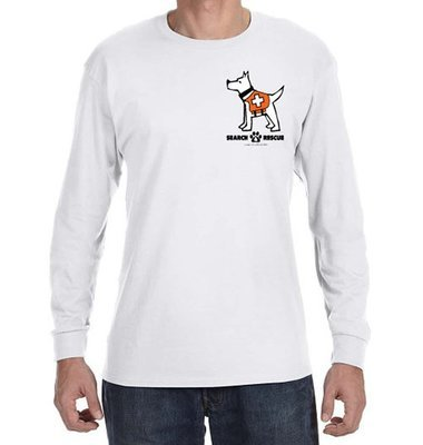 Long Sleeve T-Shirt: Man's Best Friend