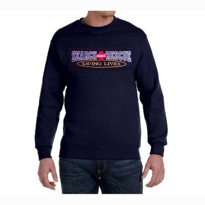 Crewneck Sweatshirt: Search & Rescue Saving Lives