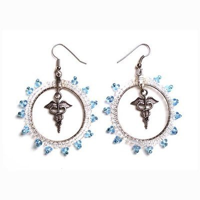 Earrings: Medical Caduceus