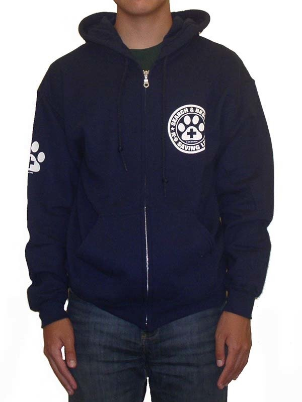 Zipper Hoodie Sweatshirt: SAR K-9 All Breed