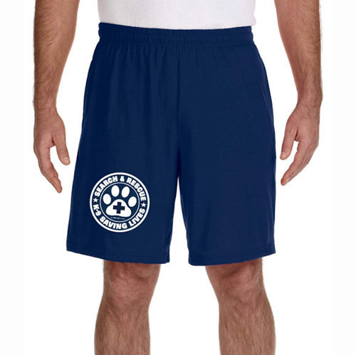 Shorts (Dri-Wear): SAR K-9 All Breed