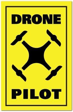 Reflective Patch: DRONE PILOT