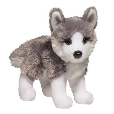 Plush Pup Standing: Husky
