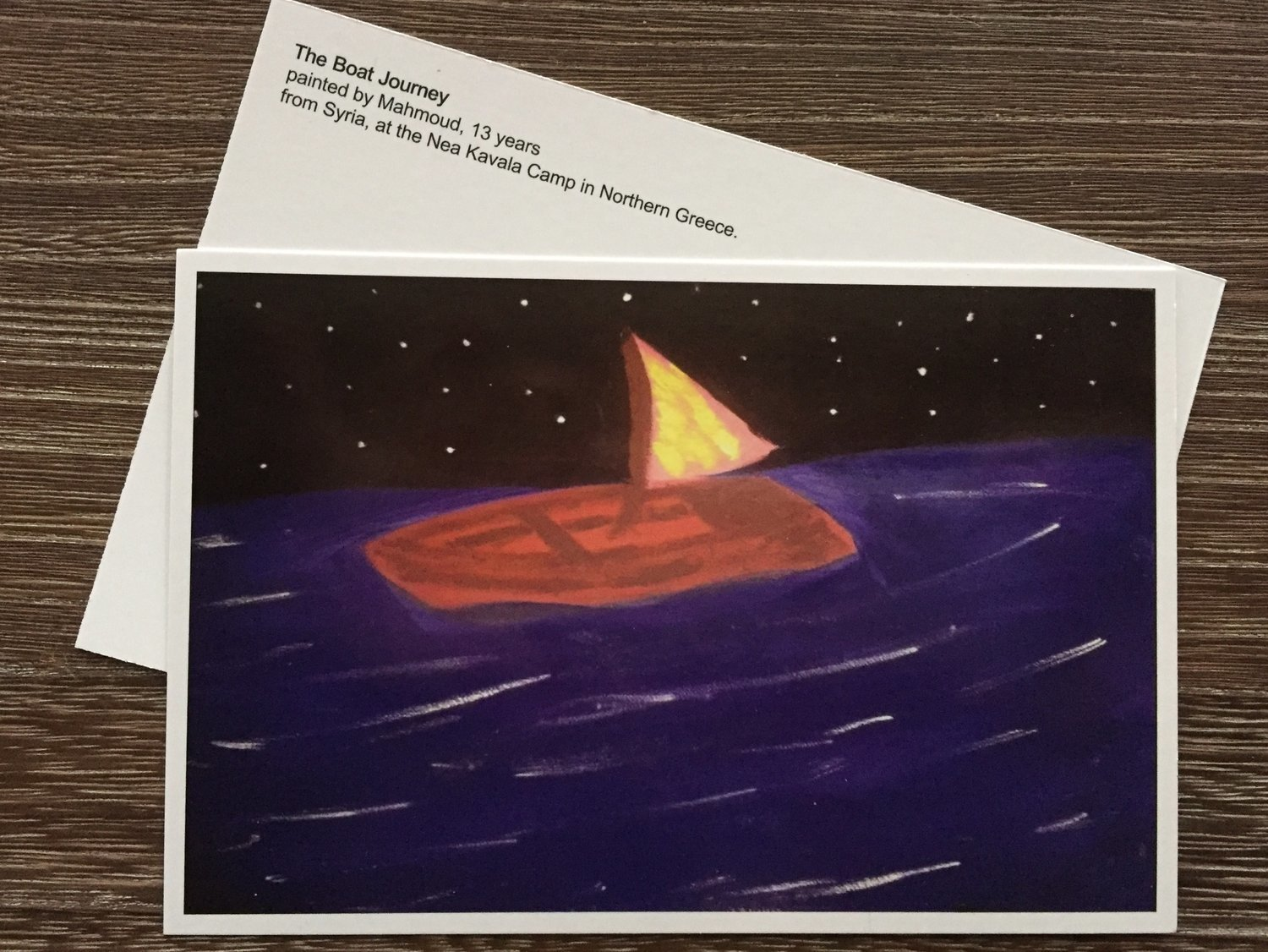 """The Boat Journey"" Postcard - Solo, 5 pack or 10 pack"