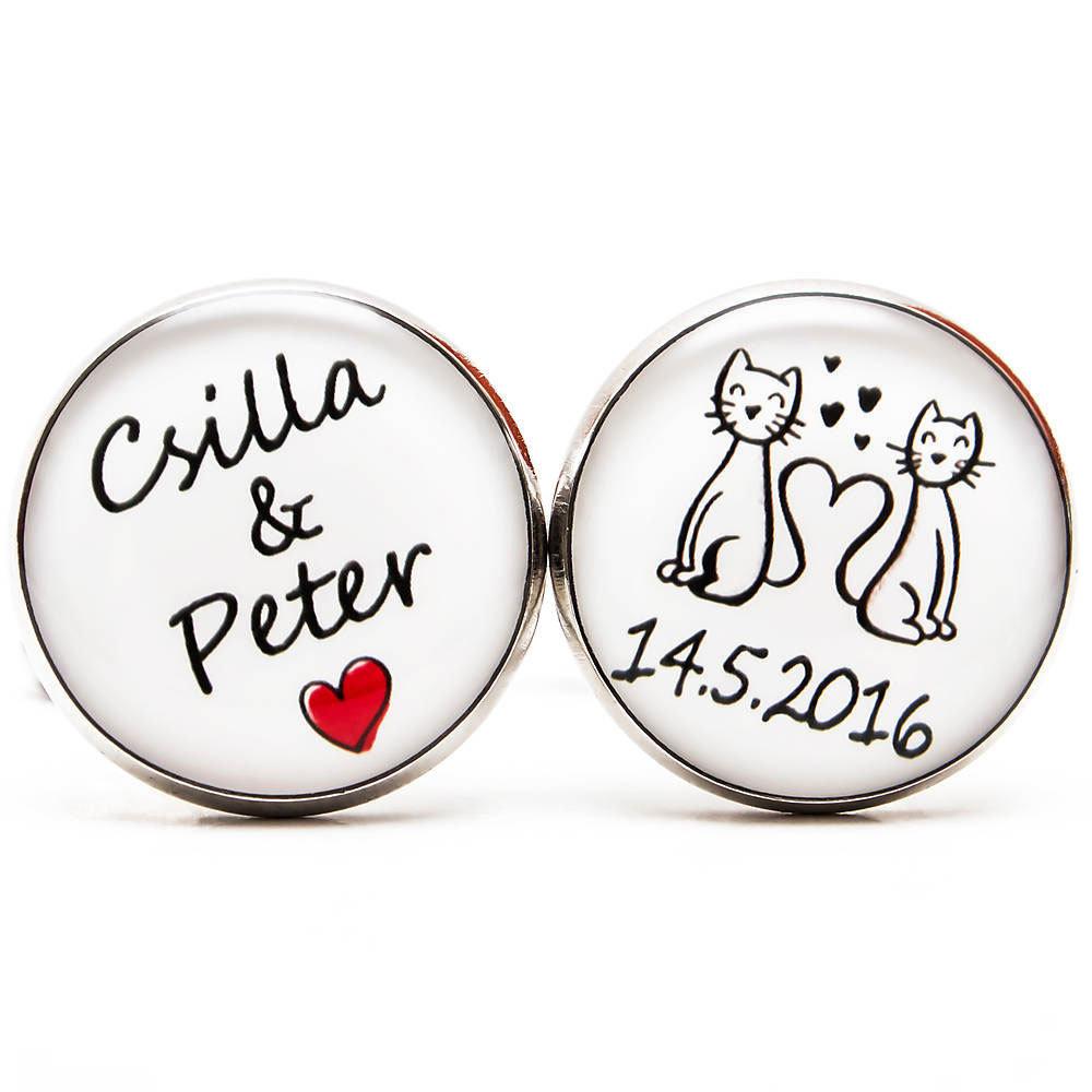 Mačičky s menami a dátumom