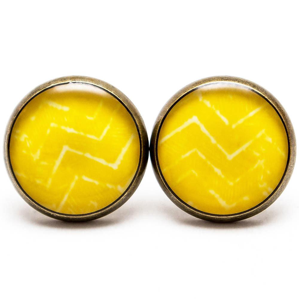 Batikový cik-cak žltý 00259