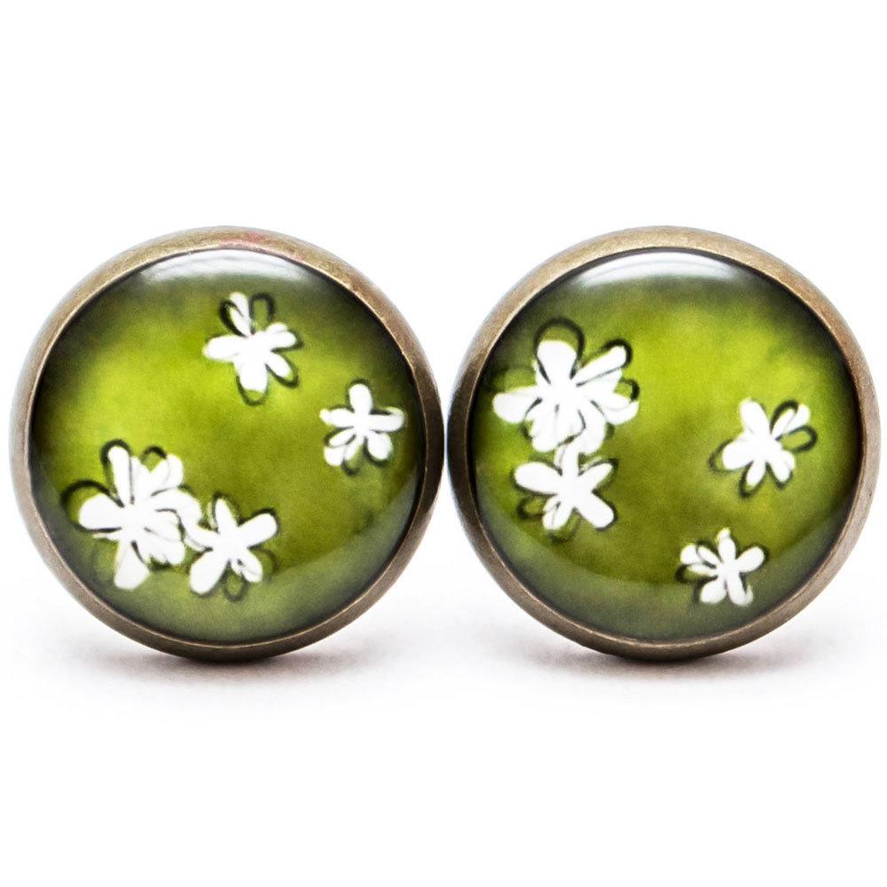 Jemné kvetinky - zelené 00260