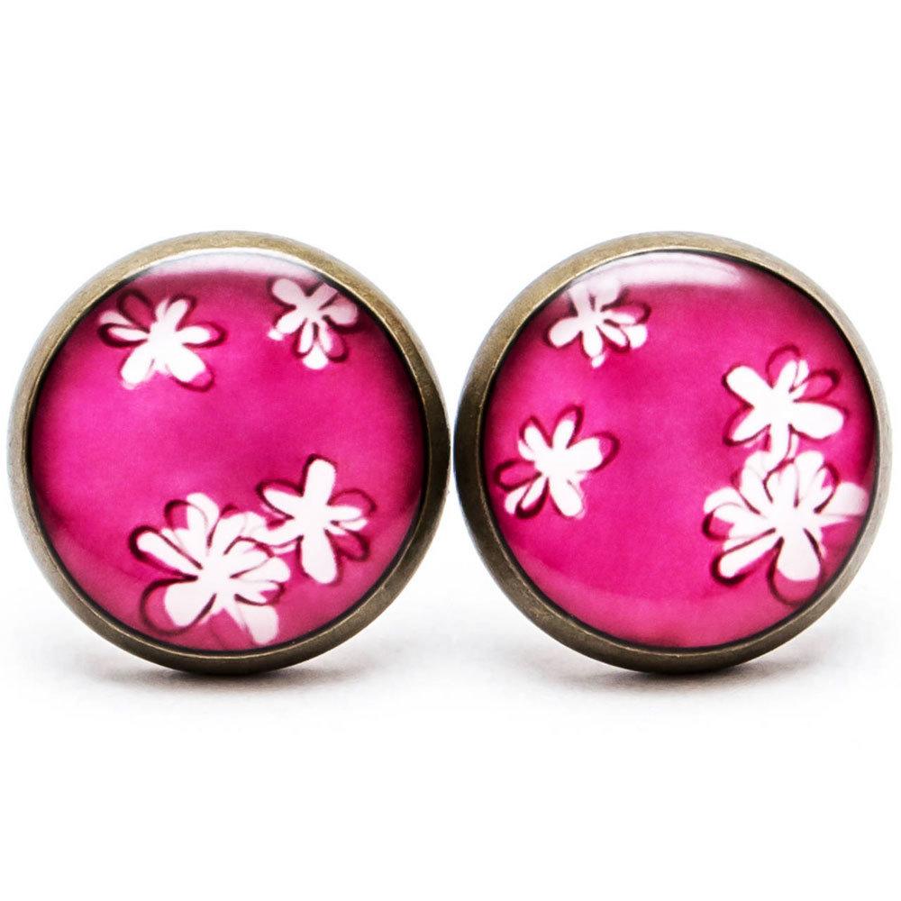Jemné kvetinky - ružové 00262