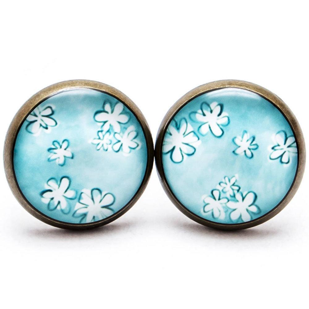 Jemné kvetinky - modré 00263