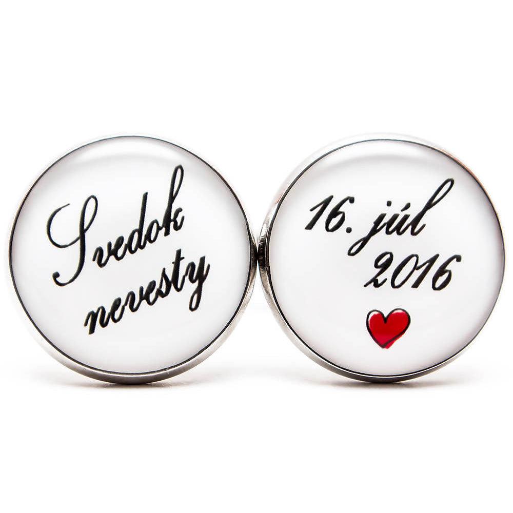 Svedok nevesty s dátumom svatby a srdiečkom 00110