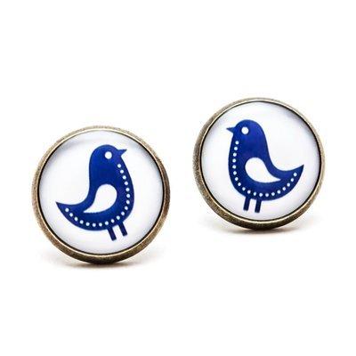 Séria Folk minimal - Vtáčiky modré