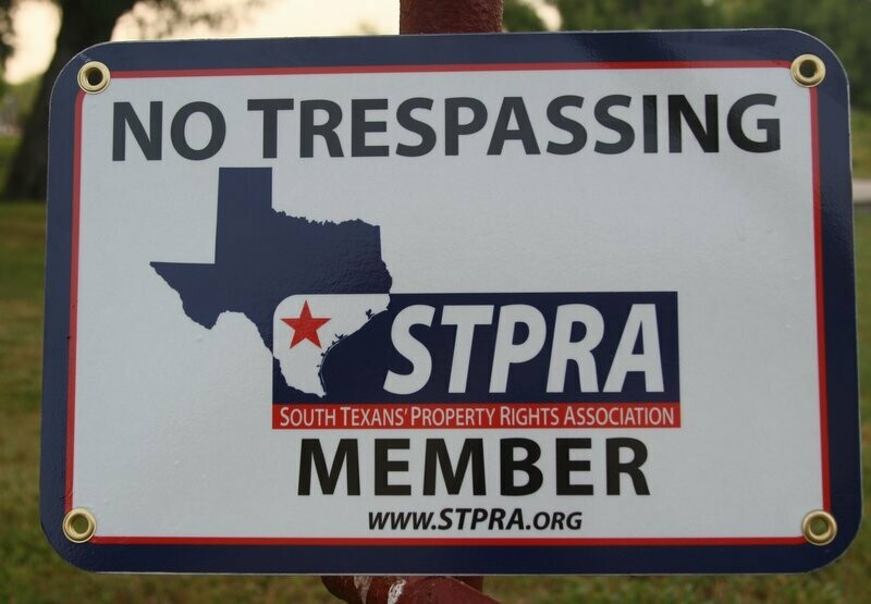 STPRA Gate Sign
