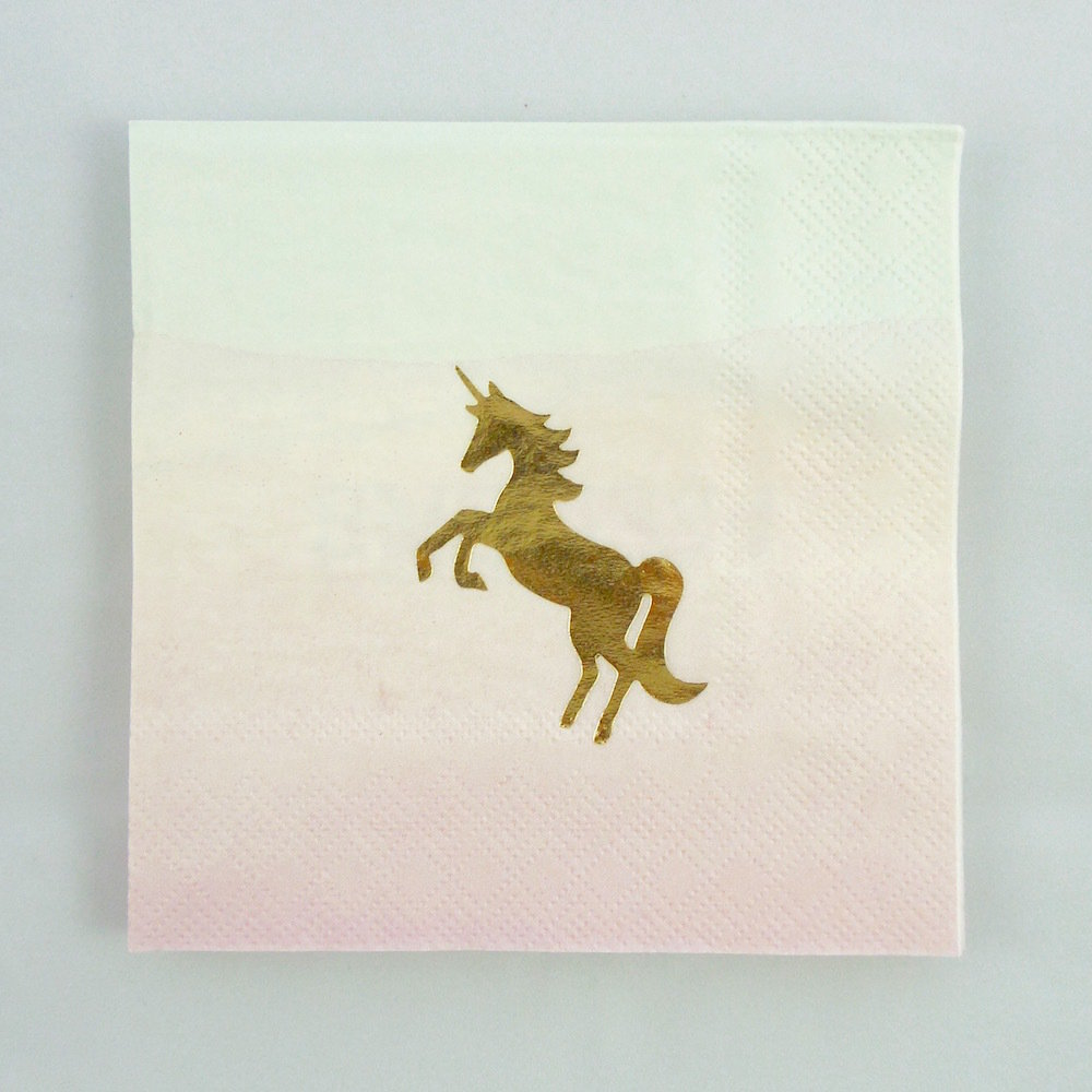 We Heart Unicorn Napkin 30201