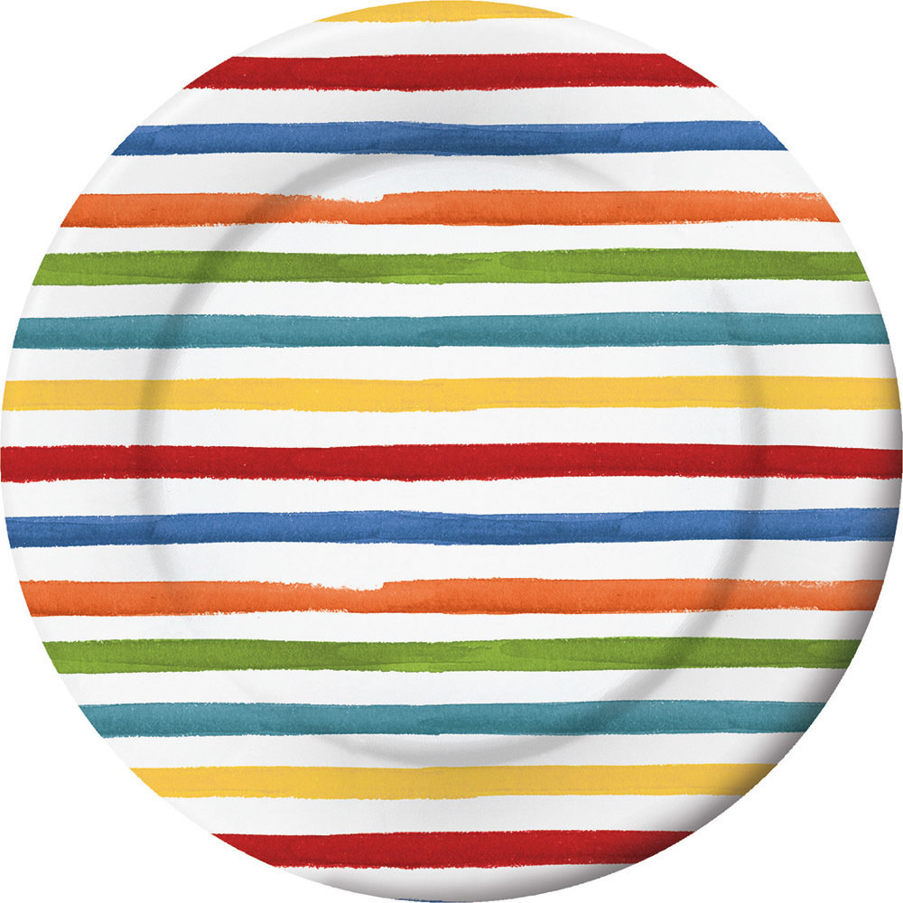 Dotted & Striped Dinner Plate 60100