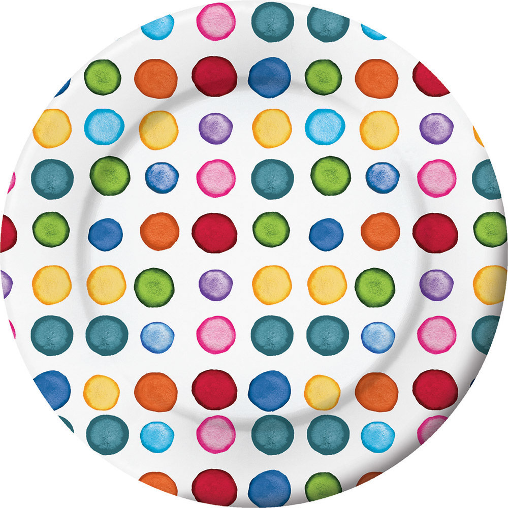 Dotted & Striped Luncheon Plate 60101