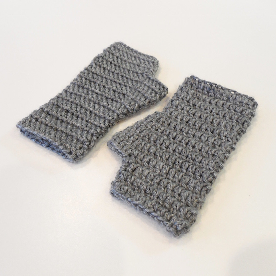 Kids Fingerless Gloves, Solids 000500