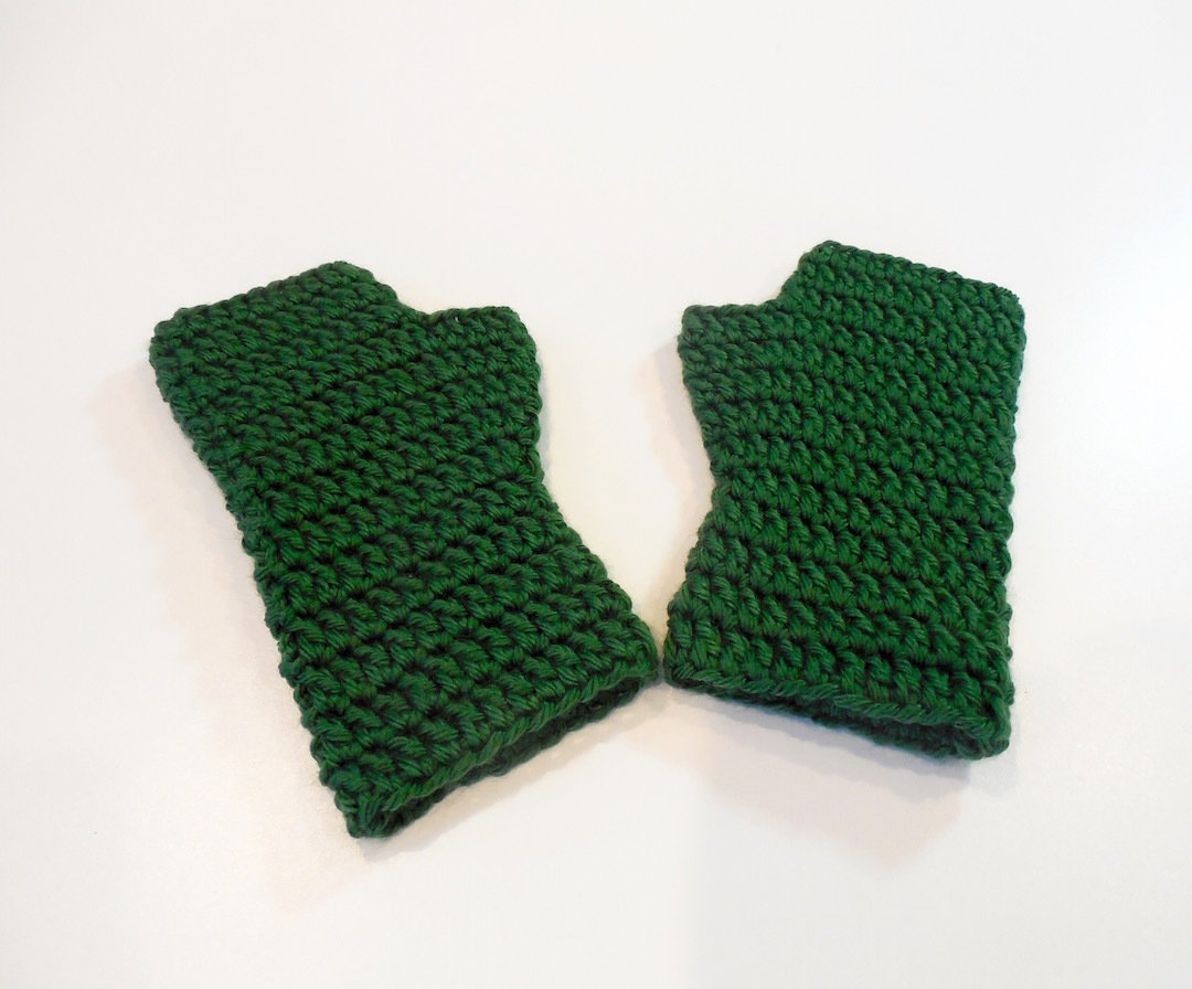 Kids Fingerless Gloves, Solids