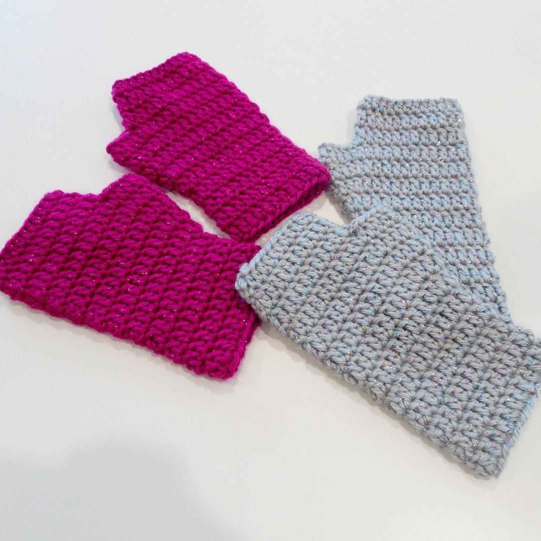 Kids Fingerless Gloves, Sparkle