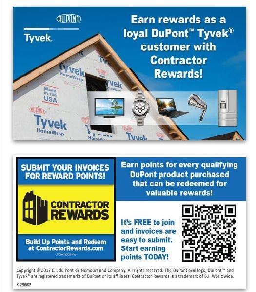 Dupont tyvek contractor rewards business card colourmoves