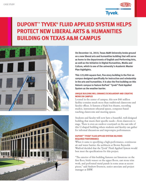 K26351 DuPont Tyvek Case Study: Texas A&M Liberal Arts
