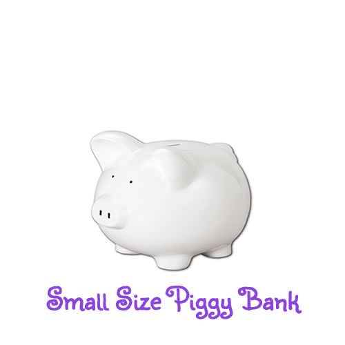 Small Hand-Painted Personalized Piggy Bank