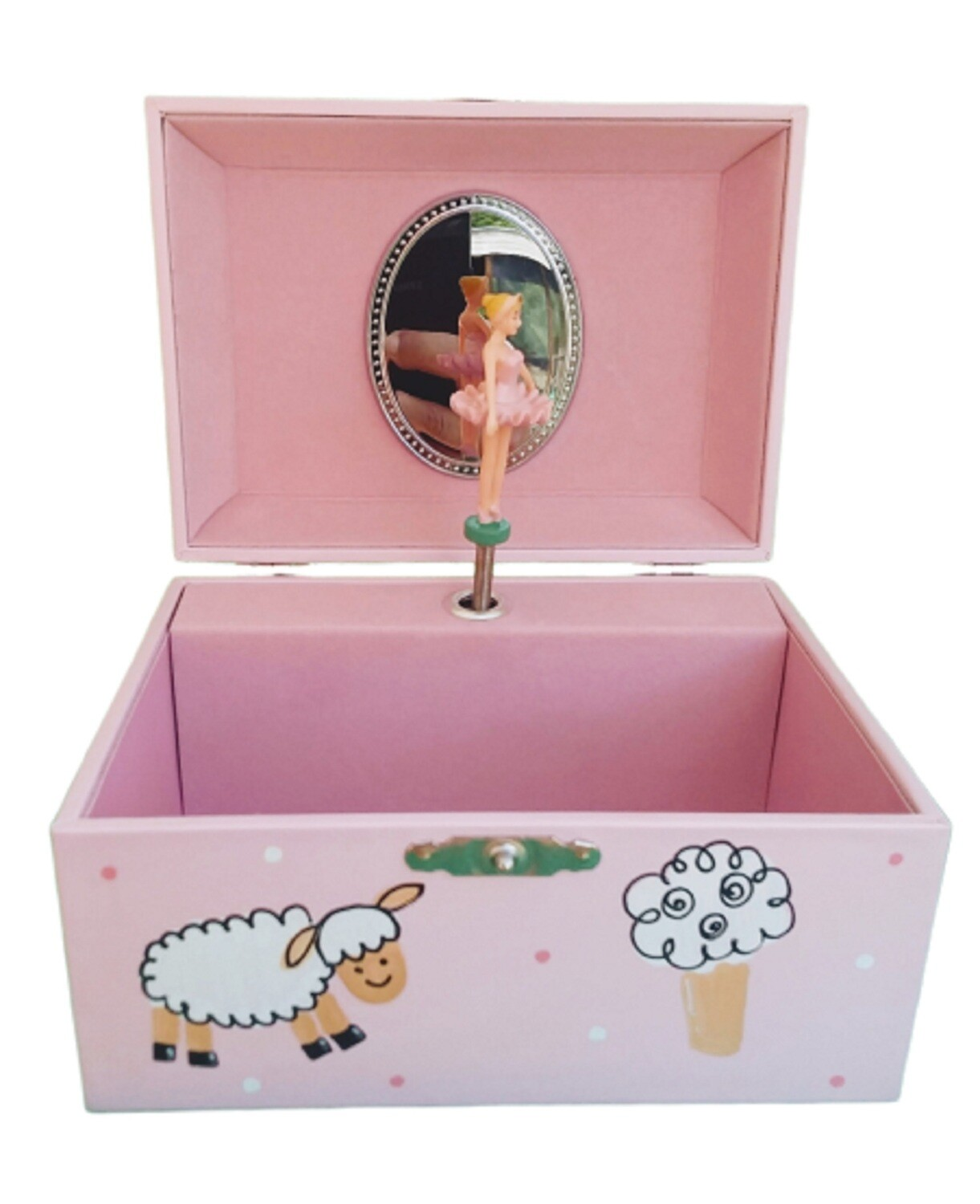 Personalized Children's Ballerina Musical Jewelry Box in Pink