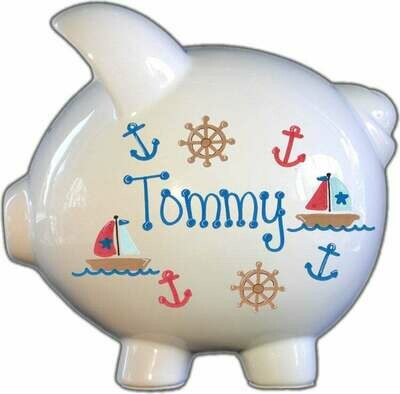 Sailboat Piggy Bank